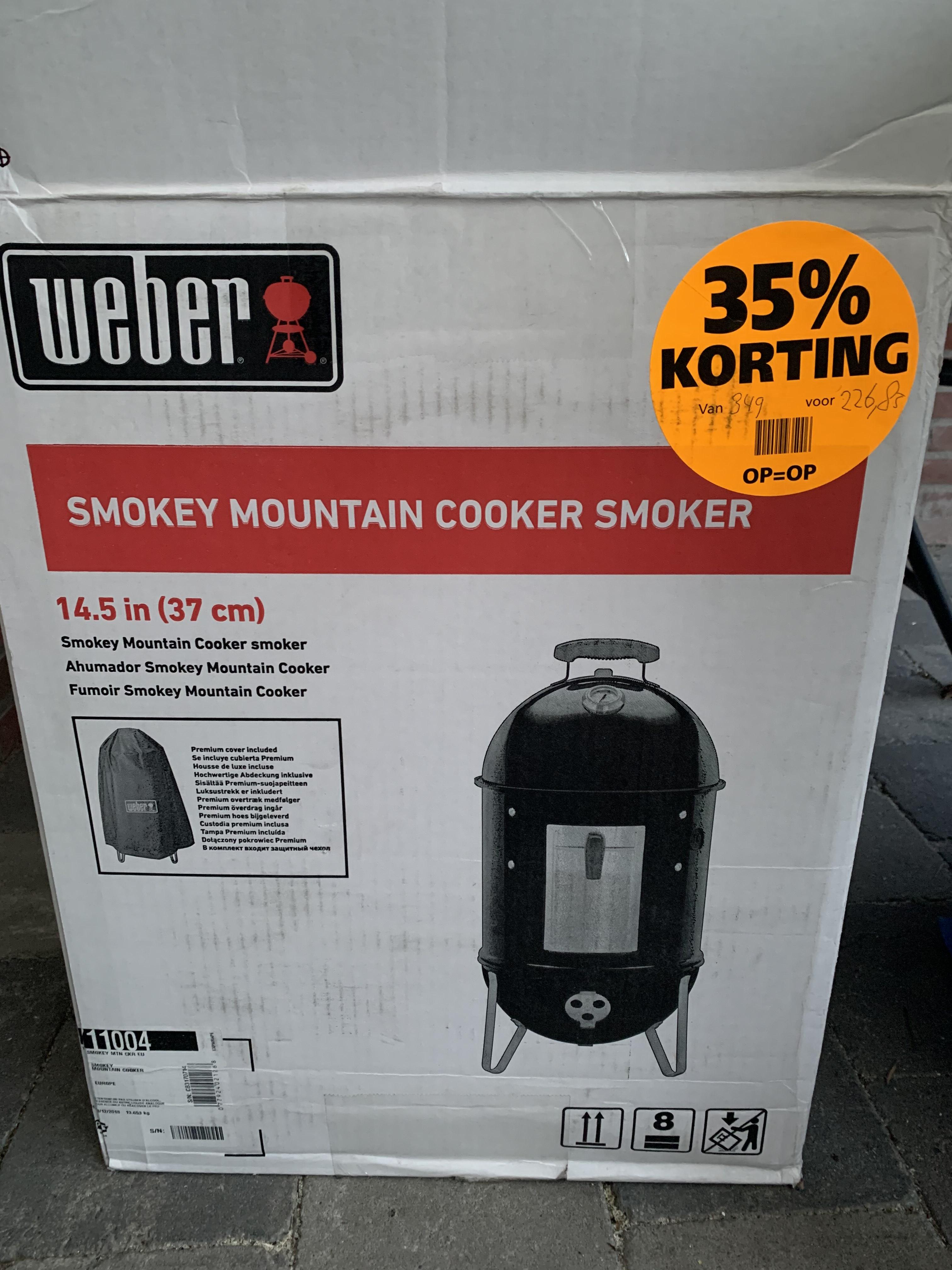 [Eindhoven] Weber Smokey Mountain Cooker Smoker 37cm