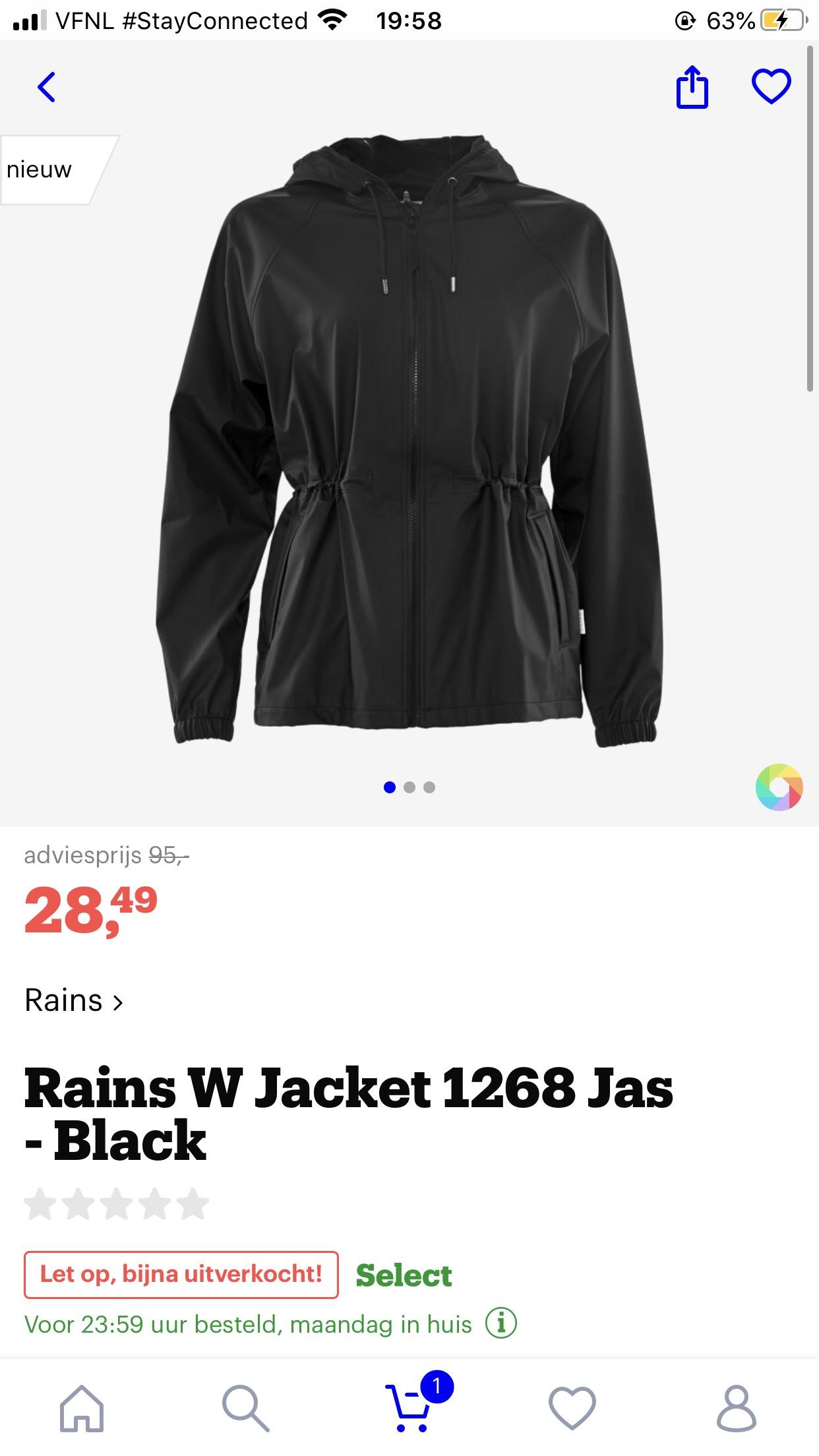 Rains dames regenjas NOG ALLE MATEN