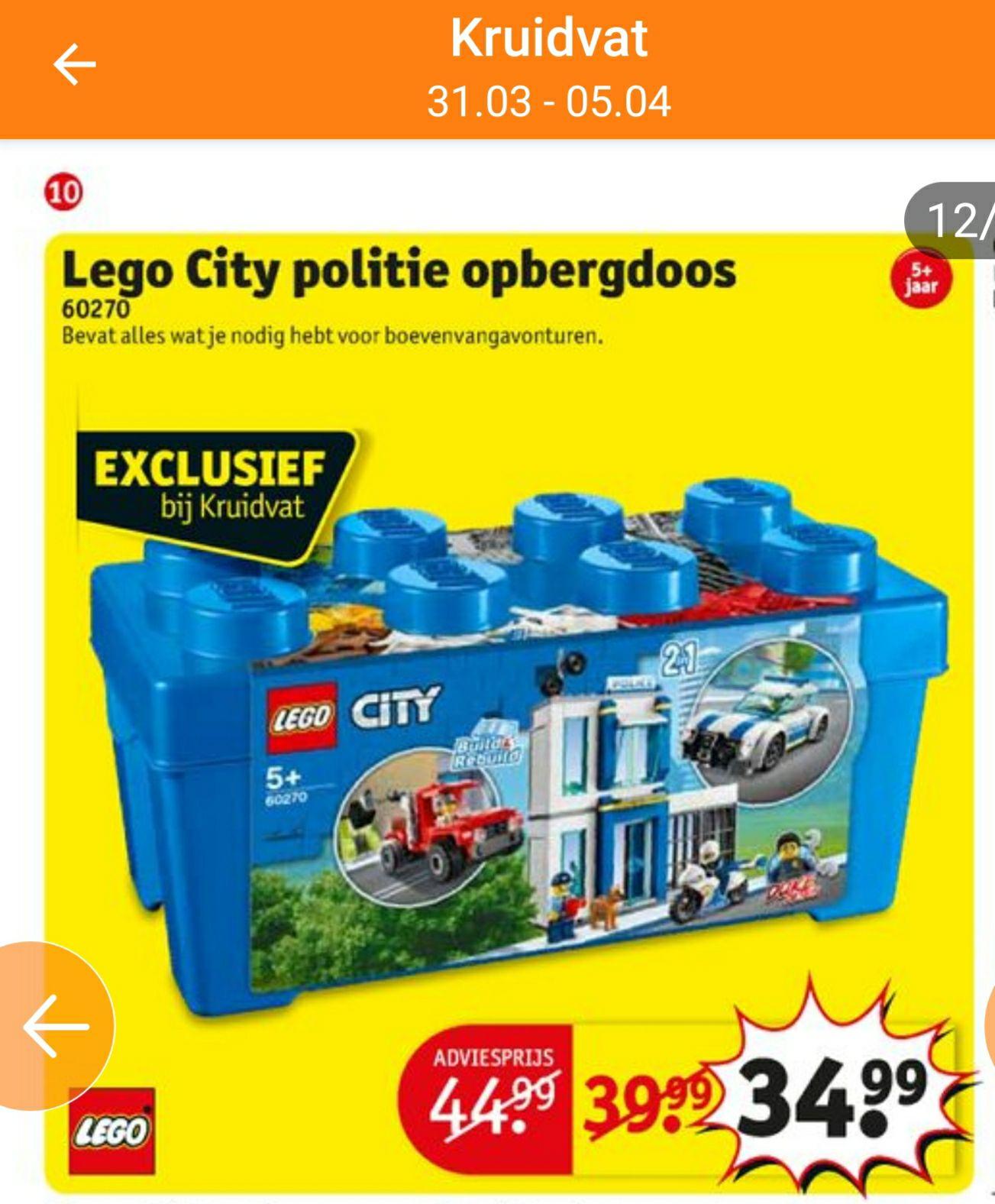 Lego city politie opbergdoos 60270