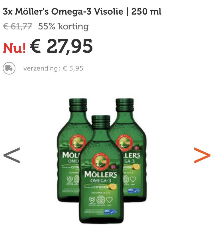 3x Möller's Omega-3 Visolie 250 ml