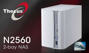 Thecus 2-Bay tower NAS N2560 (SATA, 1.6GHz Dual Core, 2GB DDR3, 1x GbE, USB 3.0) voor €180,67 @ Maxict