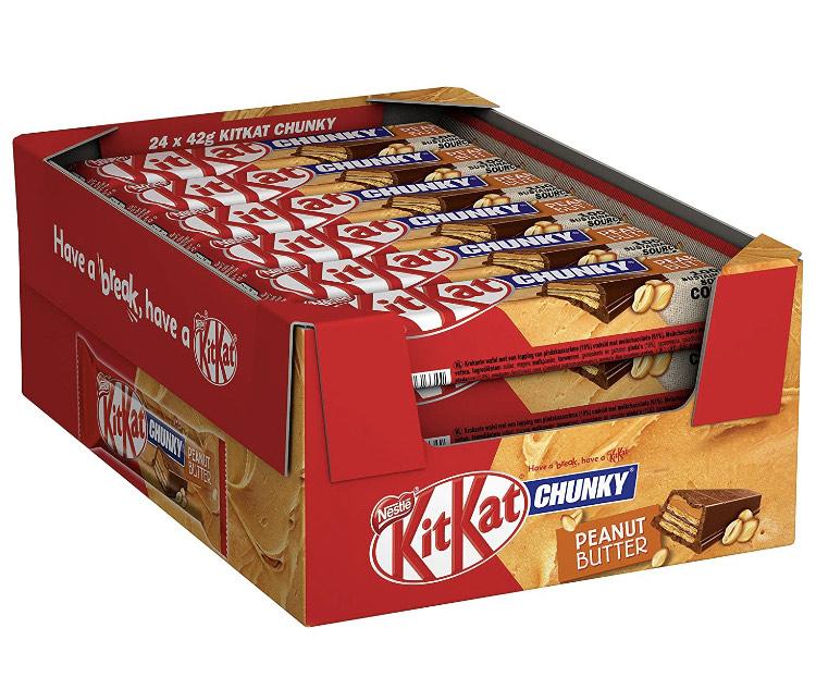 Nestlé KitKat ChunKy Peanut Butter 24X 42g