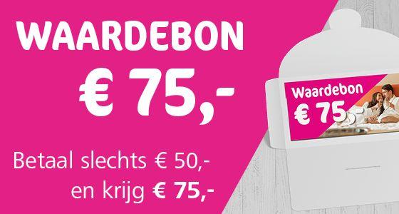 Bestel bij Voordeeluitjes voor €50 een bon twv €75