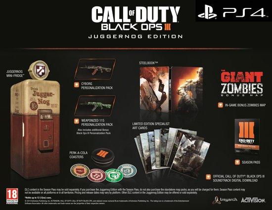 Call Of Duty: Black Ops 3 - Juggernog Edition (PS4/One) voor €199 @ Bol.com (overal uitverkocht!)
