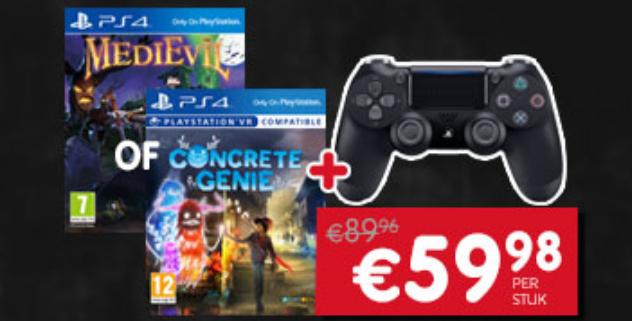 Sony DualShock 4 Controller V2 + game Concrete Genie of Medievil