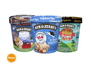 Ben & Jerry's Netflix, Popcorn of Cone Together 50% Korting @Hoogvliet