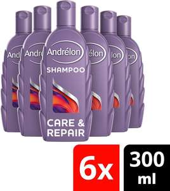 [SELECT ONLY bij BOL.COM] Andrélon Intense Care & Repair Shampoo - 6 x 300 ml - Voordeelverpakking