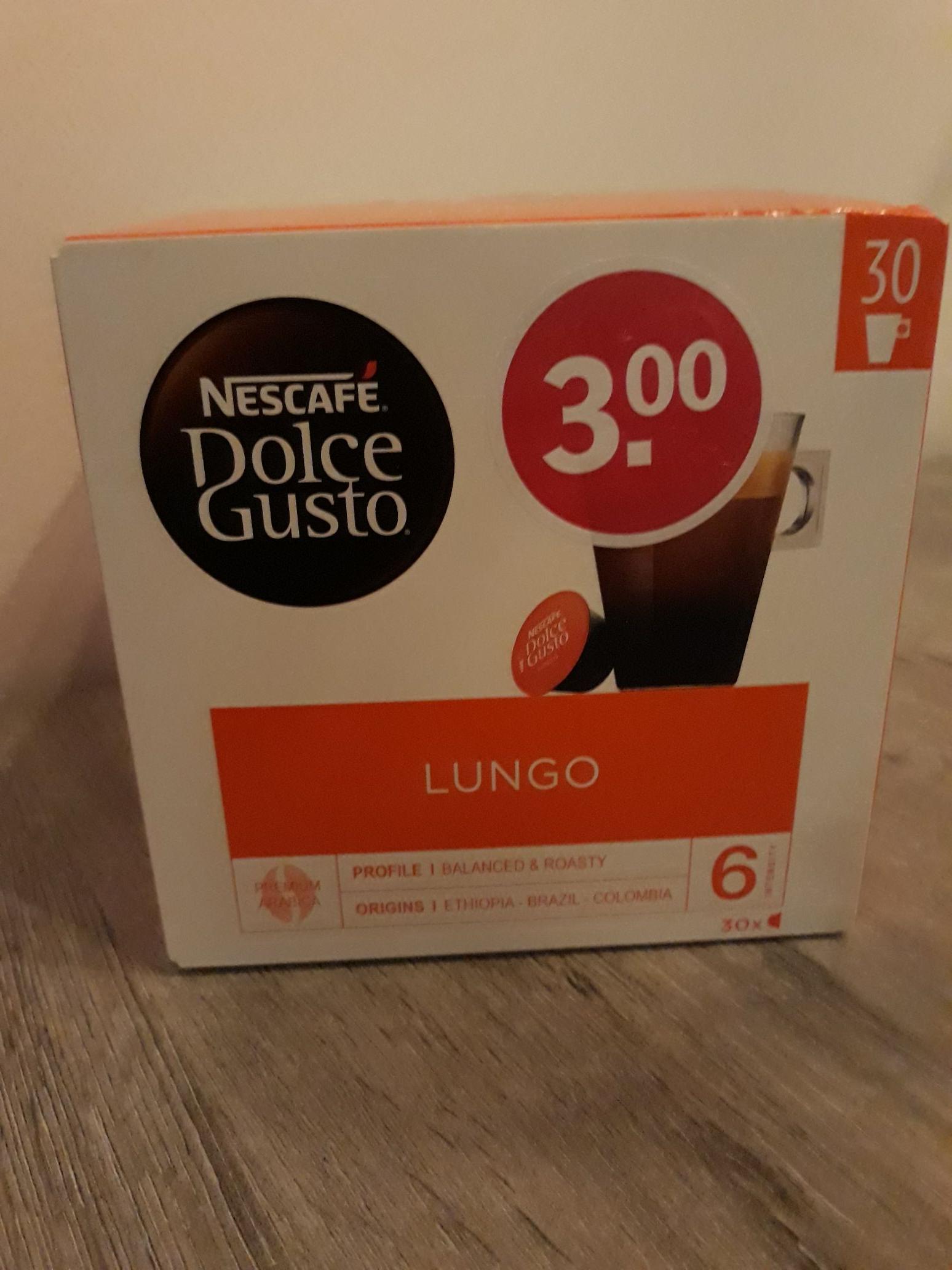 Nescafe Dolce Gusto Lungo voordeel verpakking 30 stuks @ah