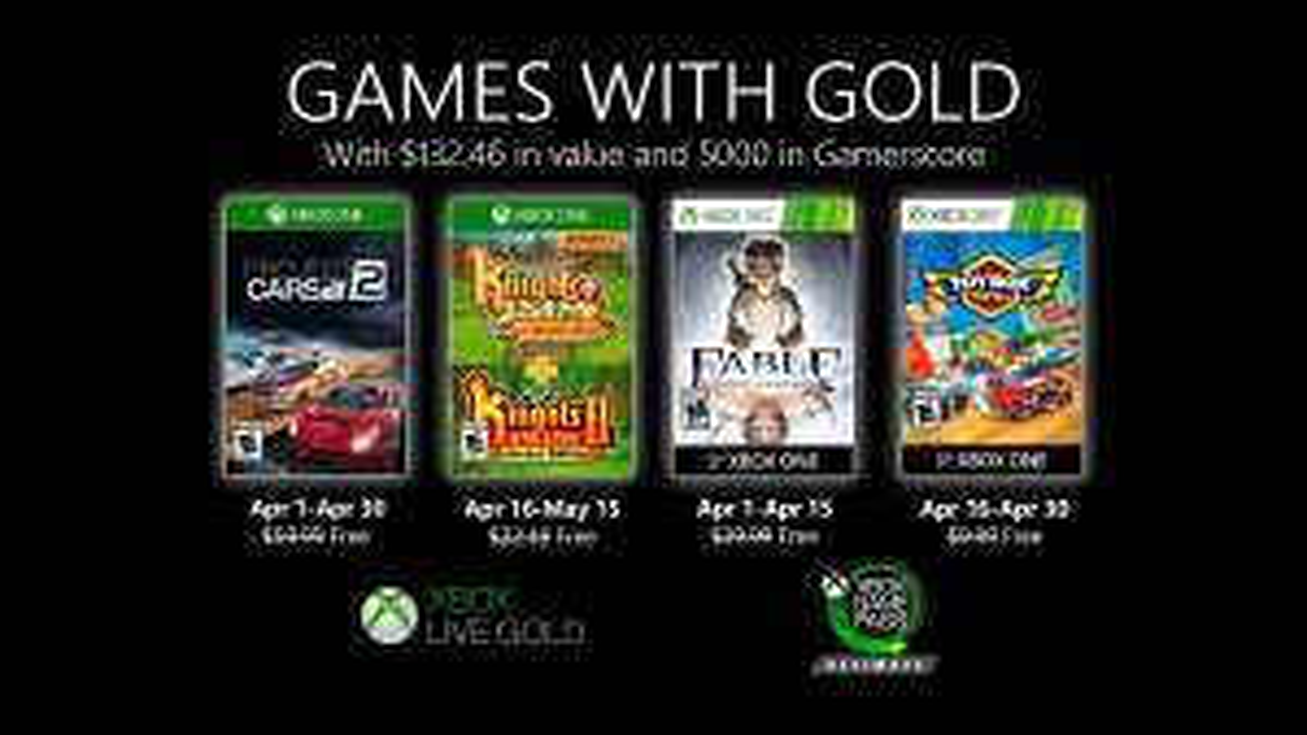 Games with Gold van april 2020