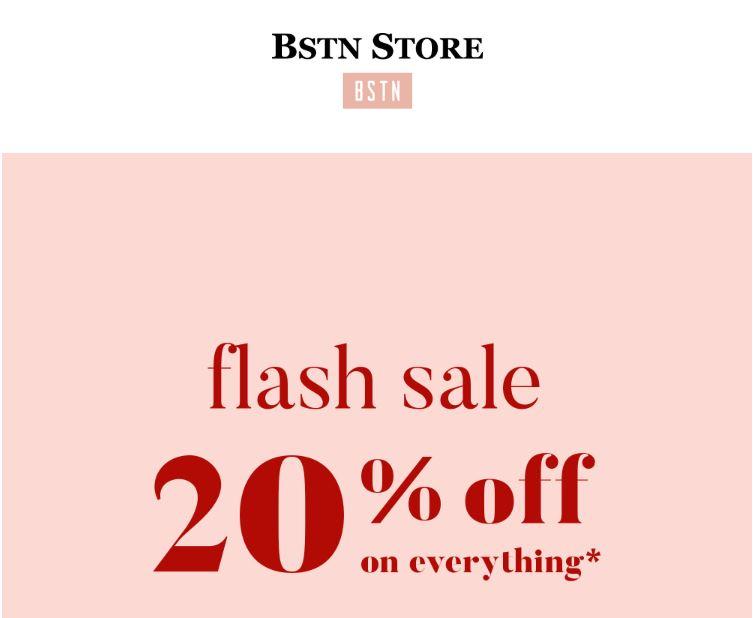 Met code 20% korting - ook op sale @ BSTN