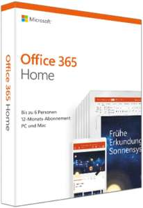 Microsoft Office 365 Home 1 jaar 6 devices @Amazon.de