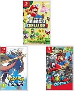 [Switch] 3 switch top games (Pokémon + 2 andere) SPAANSE hoes voor €102,90/€110,90 @ Amazon ES