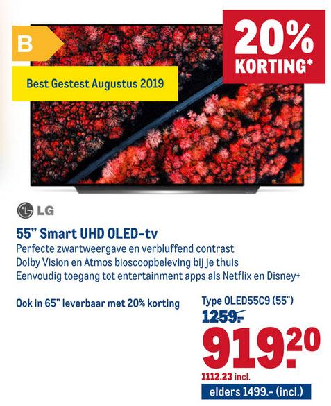 LG OLED tv (55 & 65 inch) bij Makro (voor iedereen!)