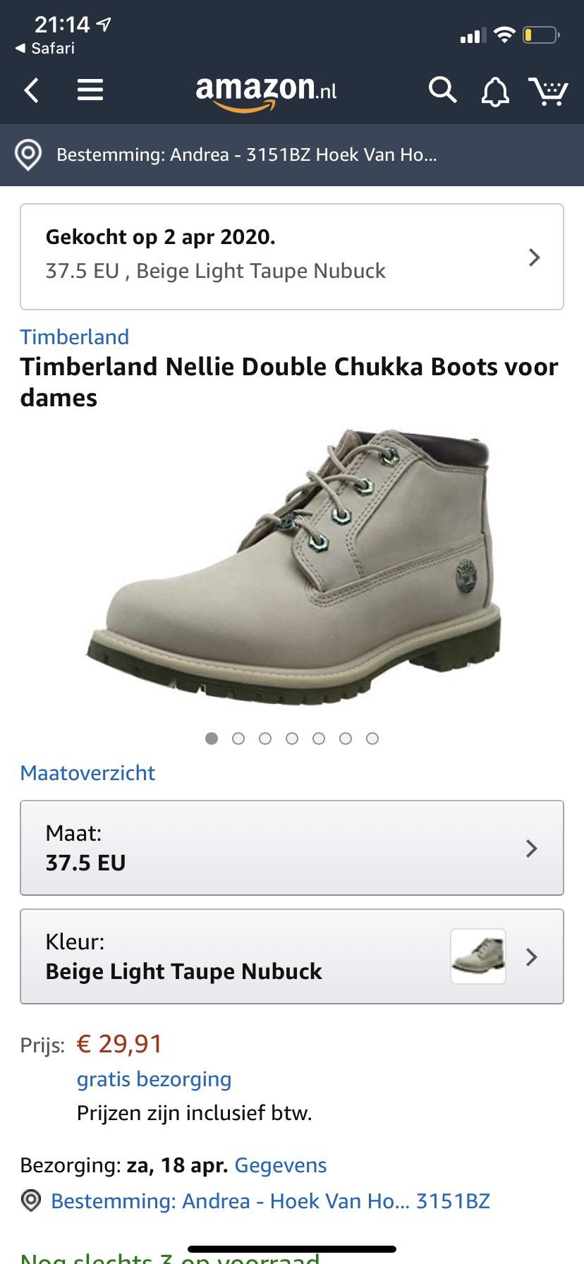 Timberland Nellie Chukka Dames voor €29,91