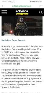 10FREE tiers Call Of Duty Modern Warfare