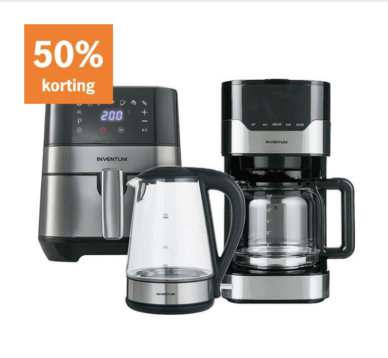 50% korting op Inventum keuken apparatuur @ AH