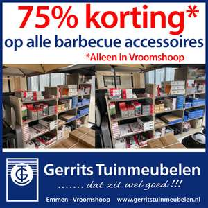 75% korting op alle barbecue accessoires! Weber - Campingaz - Grandhall