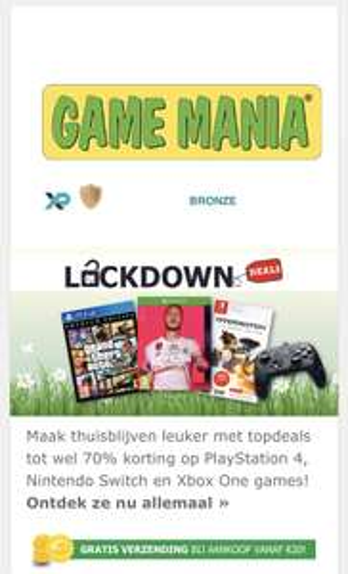 Game mania Lockdown deals