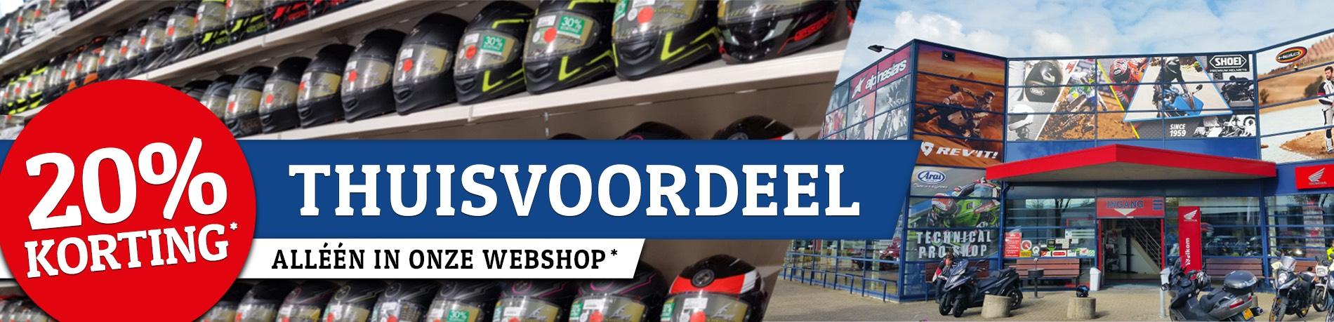 Hans van Wijk motoren 20% korting op veel in de webshop