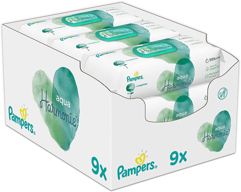 Pampers Aqua Pure Billendoekjes 9 x 48st