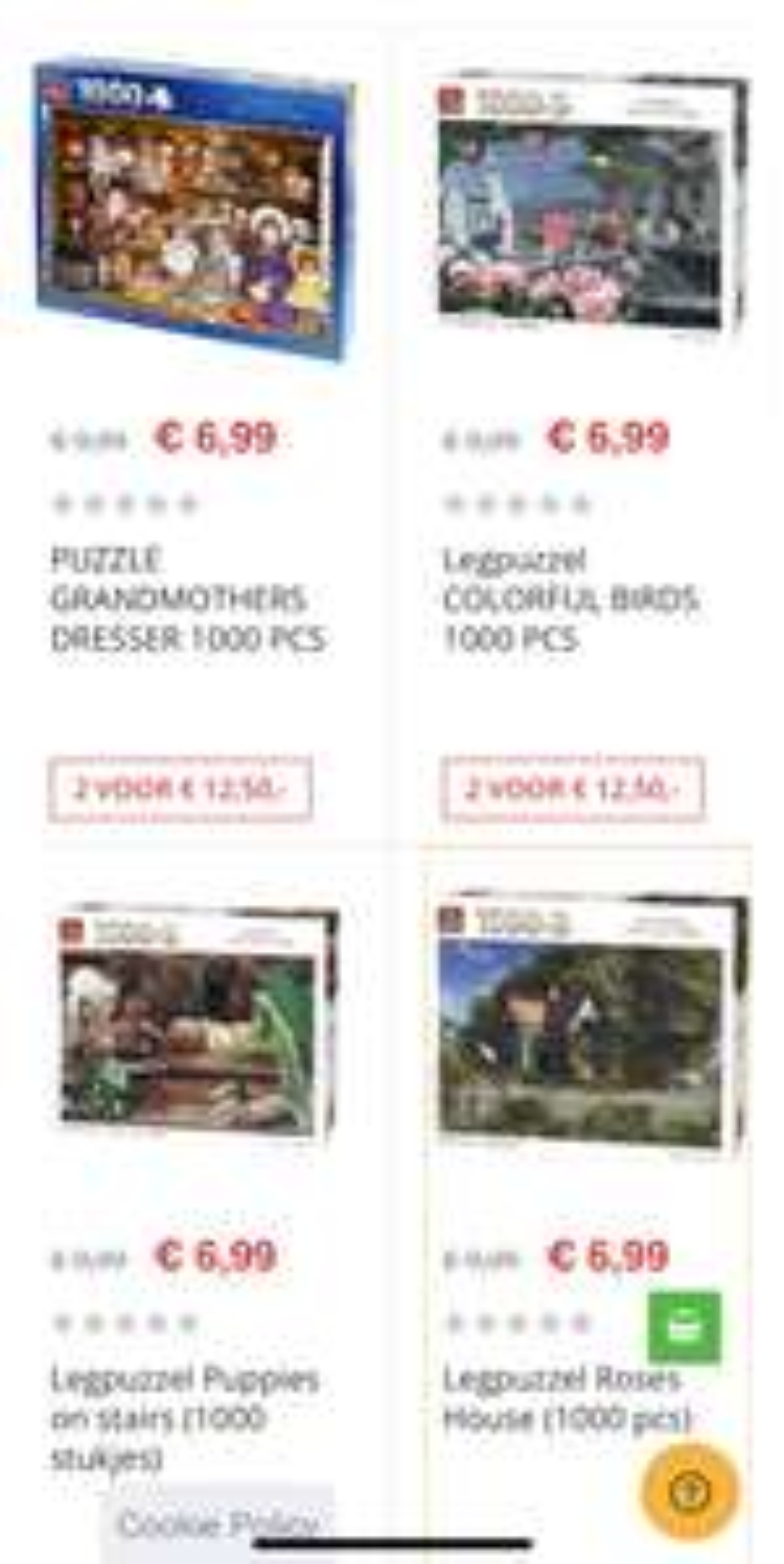 2 legpuzzels voor €12,50