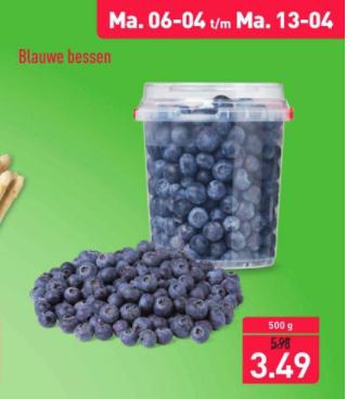 Blauwe bessen 500 gr Aldi