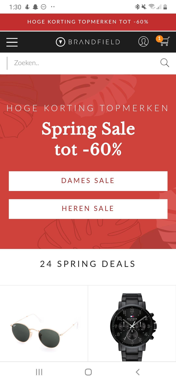 Brandfield Spring Sale tot wel 60% korting