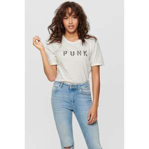 Only t-shirt 'Punk' @ Sans-Online