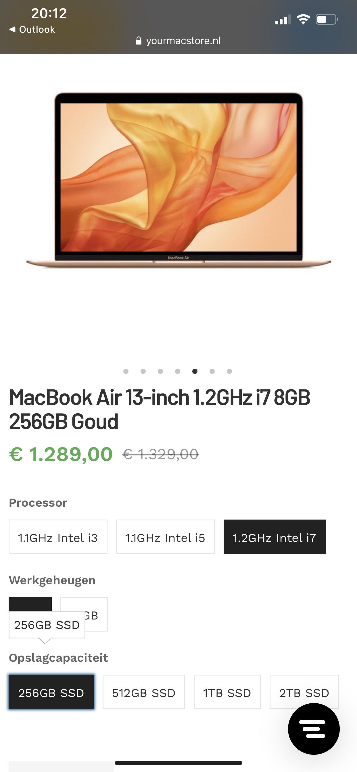 MacBook Air 2020 i7 / 8gb / 256gb