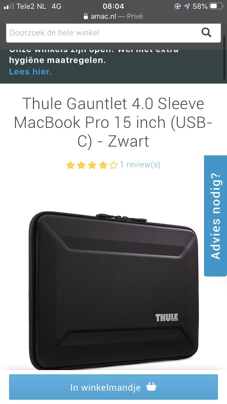 Thule Gauntlet 4.0 sleeve 15 inch