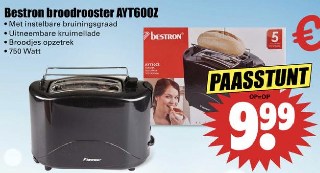 Bestron Broodrooster AYT600Z