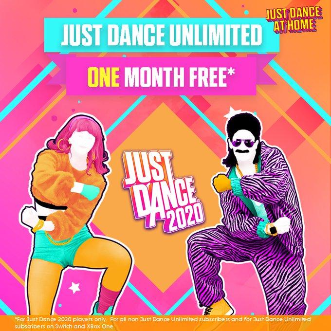Just Dance Unlimited 1 maand gratis voor Just Dance 2020 bezitters - MOGELIJK ook als je oudere Just Dance versies hebt