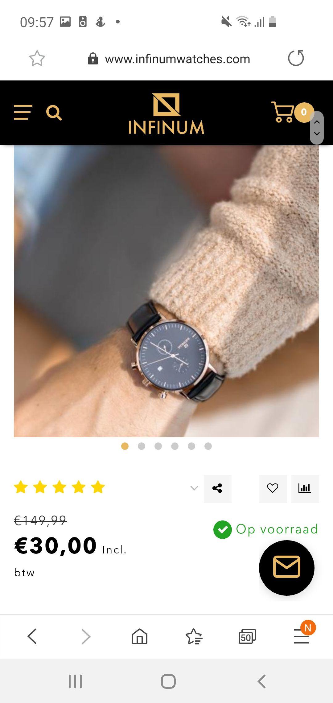 Leegverkoop Infinum horloges