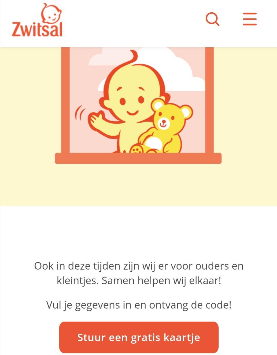 Gratis een kaartje versturen naar kersverse ouders die het verdienen @ Zwitsal Nederland