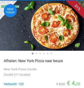 2 New York pizza's voor €5,90 in Zwolle