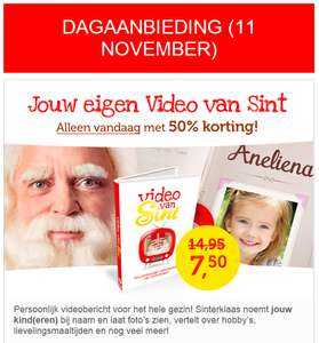 50% korting op Video van Sint @ Wij special media