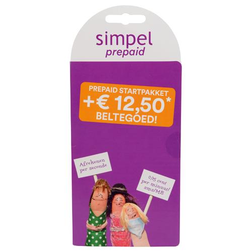 Simpel prepaid startpakket 12,50 beltegoed voor 2,99 @action