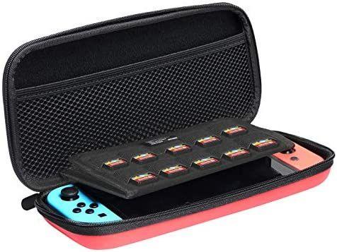 Draagtas voor Nintendo Switch - AmazonBasics (Rood)