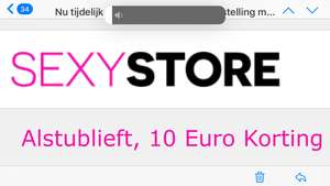 10,- korting sexystore