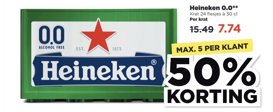 Krat Heineken 0,0 (24x 30cl) voor 7,74