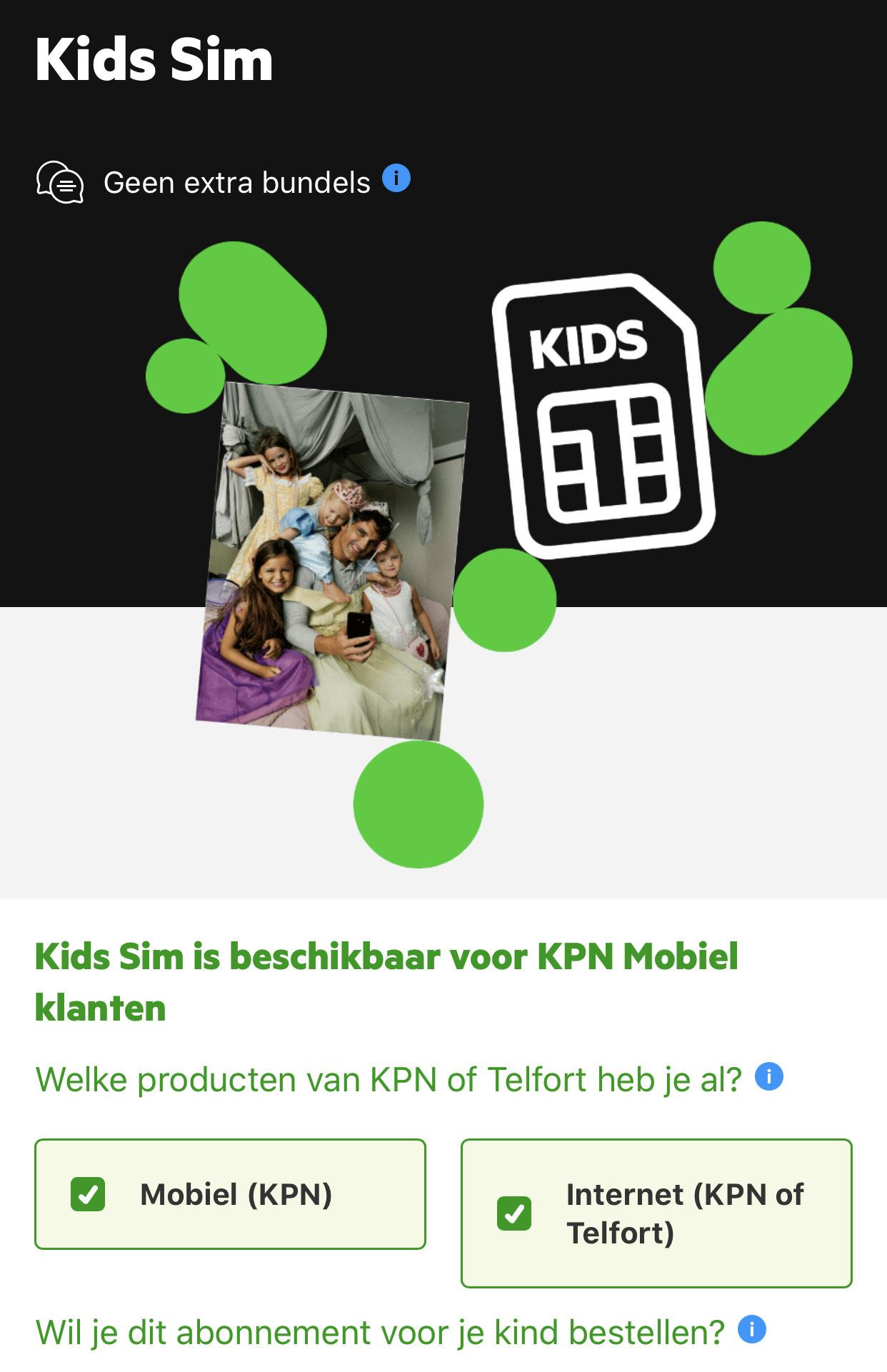 Kids Sim voor KPN (mobiel) klanten (geen aanbieding, wel interessant)