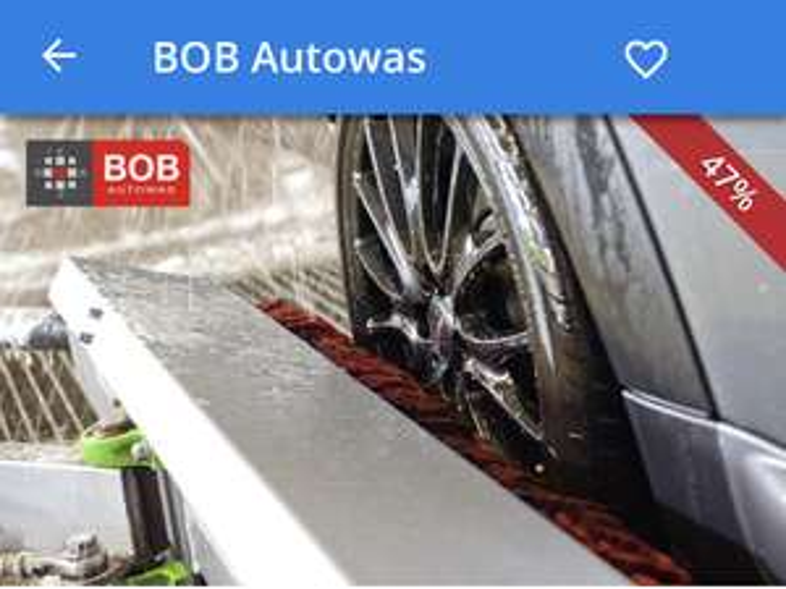 Bob carwash (intensief wasprogramma) €8,50