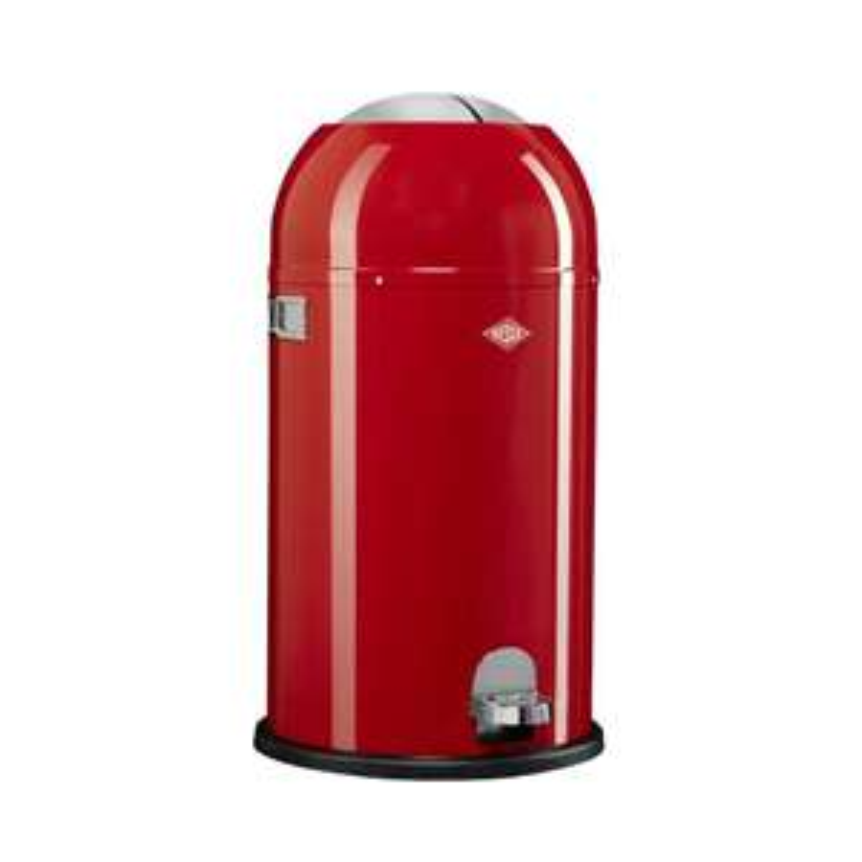 Wesco Kickmaster prullenbak - 33 liter - rood @ Blokker
