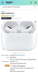 Apple Airpods Pro €234,64 @ Amazon.fr