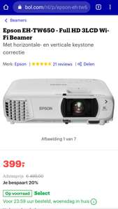 Select deal Epson EH-TW650 - Full HD 3LCD Wi-Fi Beamer