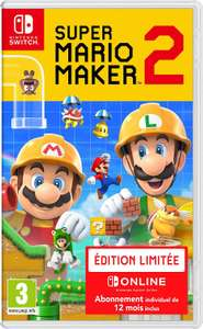 Super Mario Maker 2 (FR) Limited Edition (met 1 jaar Nintendo Switch Online) voor €42,41 @ Amazon NL