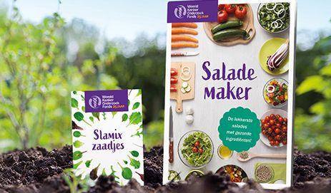 Gratis Kookboekje 'de Salade maker' + Gratis Zakje Slamix Zaadjes