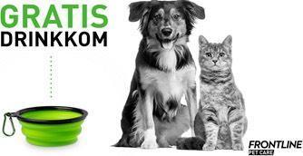 BELGIË - GRATIS opvouwbaar drinkbakje voor hond of kat!