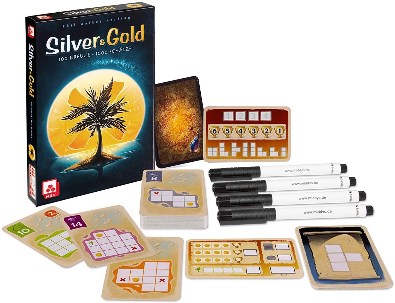 Silver & Gold 'flip-and-write' spel (DU) voor €6,60 @ amazon NL