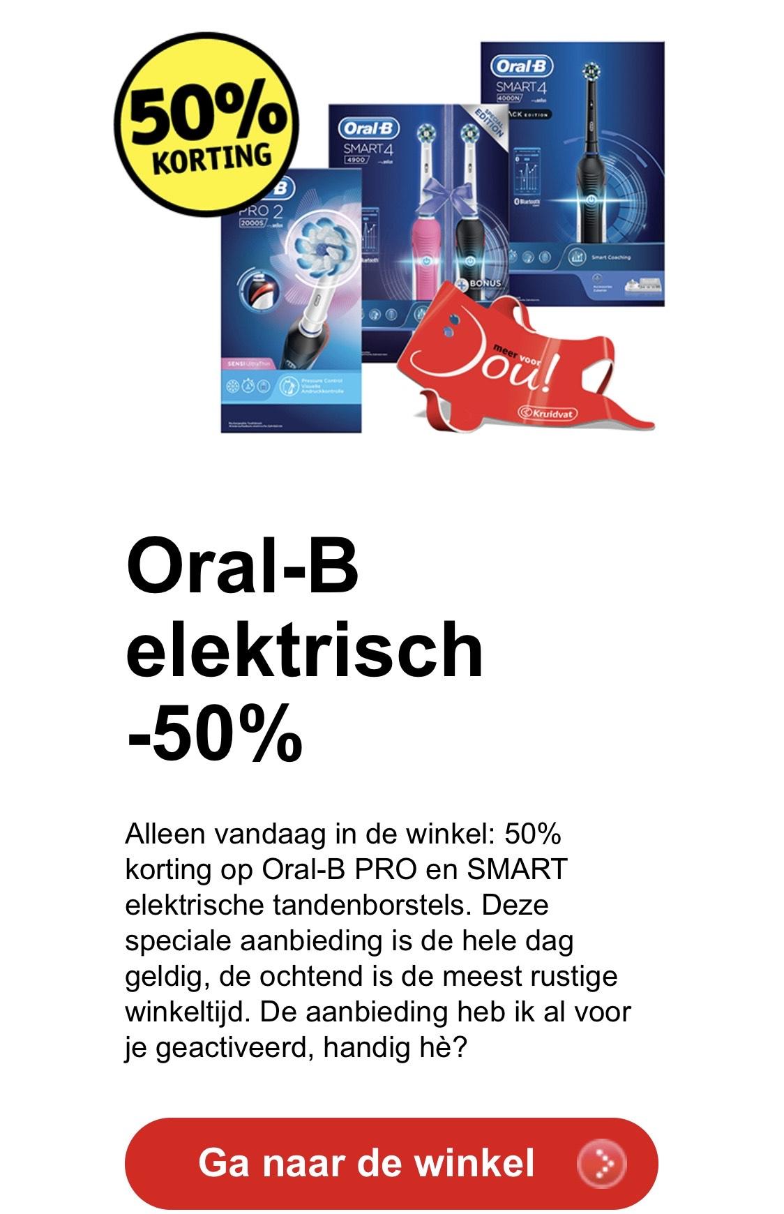 67% korting op Oral-B + GRATIS google mini t.w.v. €59 | keuze uit elektrische tandenborstels SMART en PRO